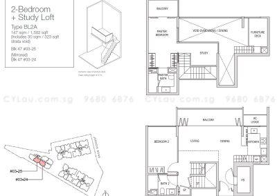 mon jervois 2-bedroom study loft