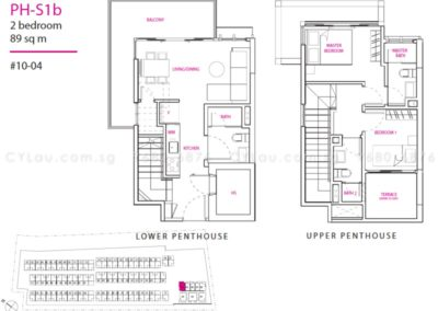 newest 2-bedroom penthouse