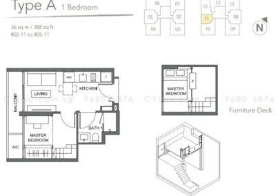 the orient 1 bedroom