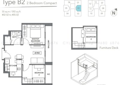 the orient 2 bedroom 02-02