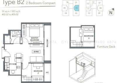 the orient 2 bedroom 02-02