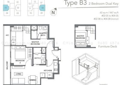 the orient 2 bedroom dual key