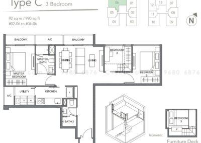 the orient 3 bedroom