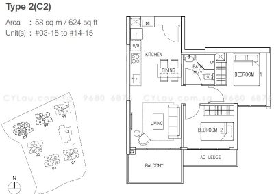the skywoods 2-bedroom compact
