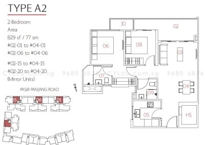 village pasir panjang 2-bedroom 02-01