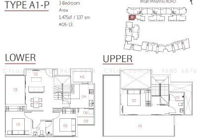 village pasir panjang 3-bedroom penthouse 05-13