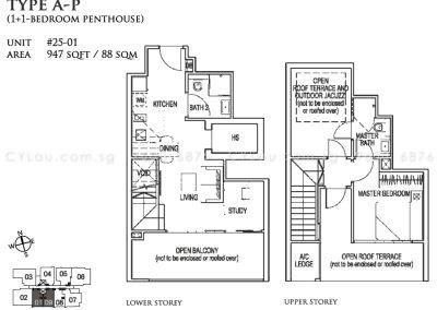 26 newton 1 study penthouse