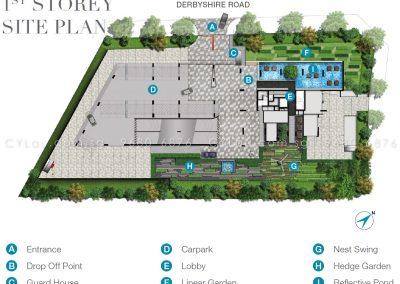 6 derbyshire site plan level 1