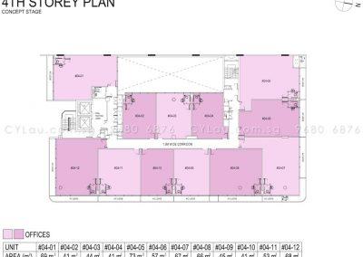 hexacube storey plan level 4