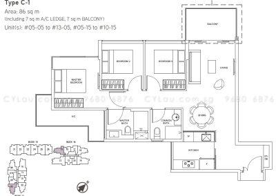 junction nine residences 3-bedroom