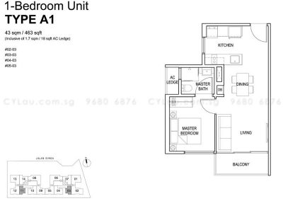 singa hills 1-bedroom