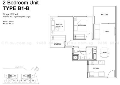 singa hills 2-bedroom b1b