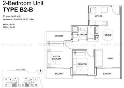 singa hills 2-bedroom b2b