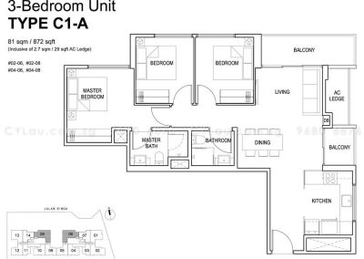 singa hills 3-bedroom c1a