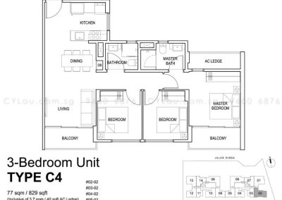 singa hills 3-bedroom c4
