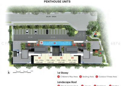 singa hills site plan with penthouses