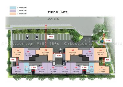 singa hills site plan with units