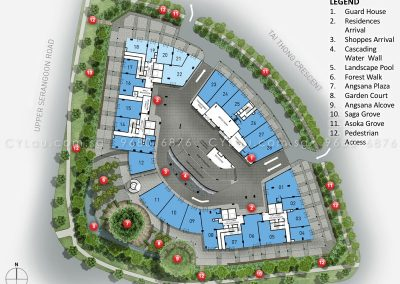 the venue residences site plan level 1
