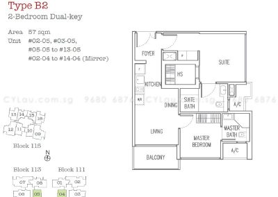 trilive 2-bedroom dual-key