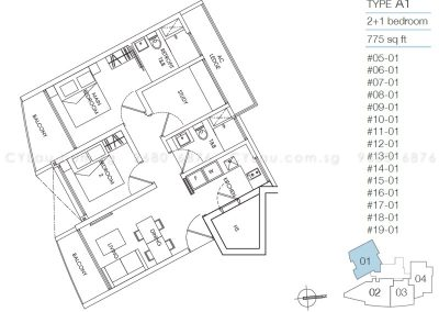 8m residences 2-study