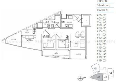 8m residences 3-bedroom