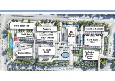 south beach residences site plan a