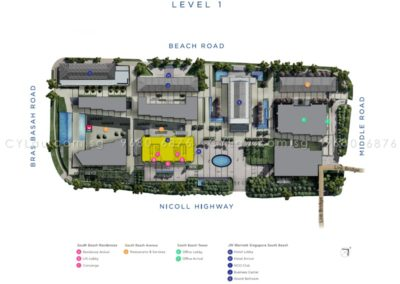 south beach residences site plan level 1