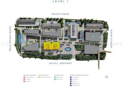 south beach residences site plan level 1
