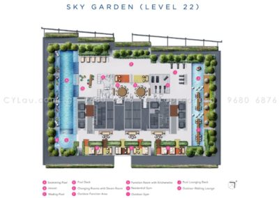 south beach residences site plan level 22